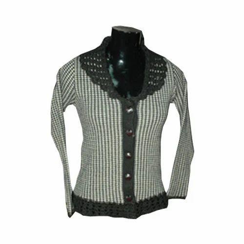 Ladies Cardigan (Neck Knitted with Krosha) - Honey Bell 988f4f058