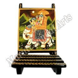 Wooden Painting Chair Mobile stand
