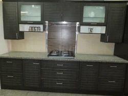 Brown Wooden Kitchen Wardrobe