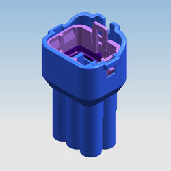 6MW 090 FHCL Male Water Proof Connectors