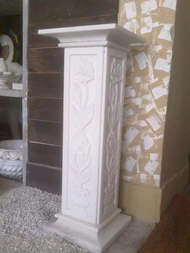 White Marble Pillar Rs 12000 Piece White Peacock Id