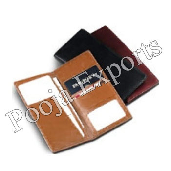 ca5a01a6e Brown And Black Pooja Exports Leather Travel Passport Holder