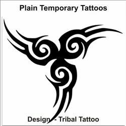Plain Designed Tattoo