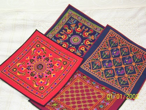 Hand Embroidered Cushion Covers Gujarat Handlooms Handicrafts
