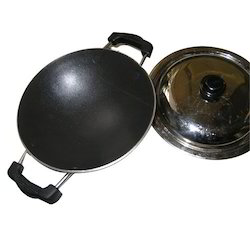 ALMN WITH NON STICK COTED Non-Stick Kadai, Capacity: 250ml To 2ltrs, Size: 15 To 28 Inches Available