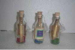 Multicolor Custom Glass Bottle Wedding Invitations