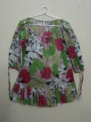 Printed Cotton Voile Fabric Tunic