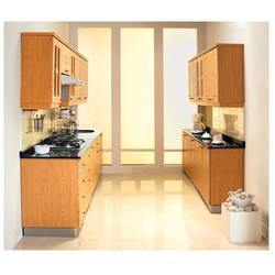 godrej modular kitchens - wooden-u shape big kitchen manufacturer