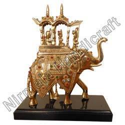 Handicraft Brass Lekar Elephant Statues