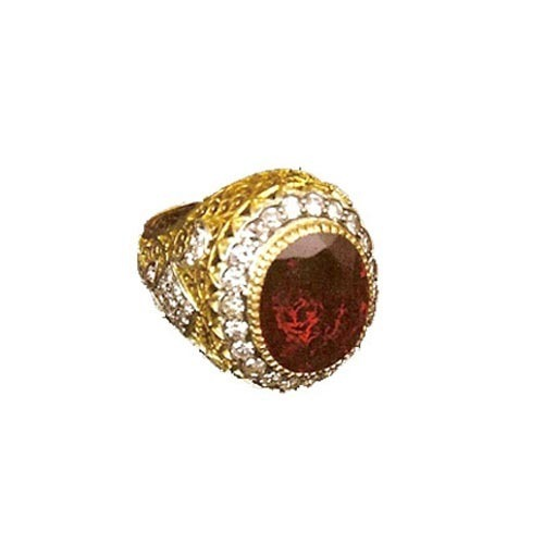 Stone Studded Gold Ring For Women Ashutosh Gems & Jewels