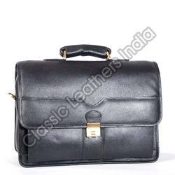 Black Leathers 18 Leather Executive Office Bags