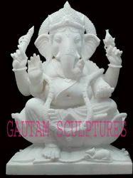 White Ganesh Statues