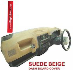 Beige Suede Dash Board Cover