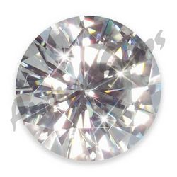 White Round Moissanite Diamond