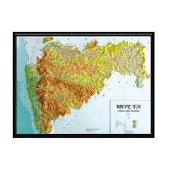 3D Raised Relief India State maps