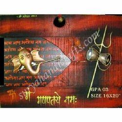 Rot Iron Brass Ganesha Hanging