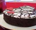 Chocolate Cake Heart Shaped
