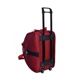 Multicolor Polyester Trolley Bags Size 20 Inches