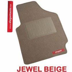 Jewel Beige Carpet Foot Mats