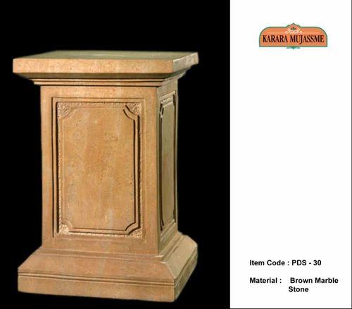 Brown Marble Stone Pedestals