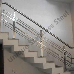 Stainless steel railings and stainless steel gates - Steel stair railing design ...