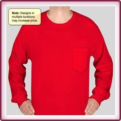 Cotton Full Sleeve T Shirt with Pocket
