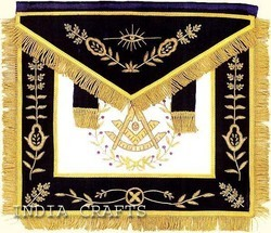 Hand Embroidered Masonic Apron