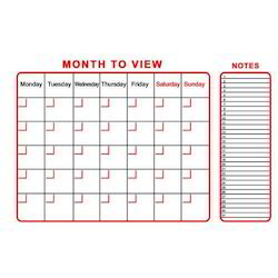 Monthly Planner Display Board
