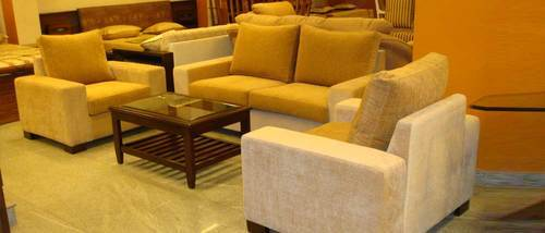 L-Shape Sofa Set With Center Table - Maharaja Furniture, Bengaluru ...