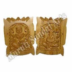 Sandalwood Lotus Laxmi Ganesha