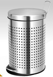 Square Perforated Peddle Bin
