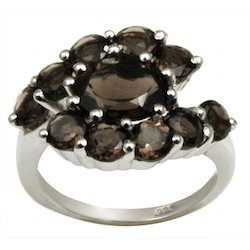 Smokey Ring In Silver