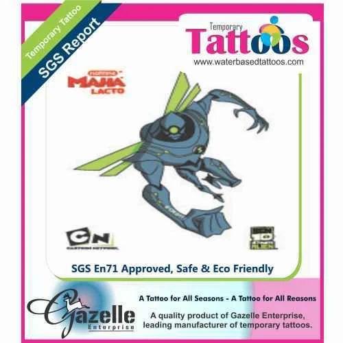 Nanomech Ben 10 Tattoos Gazelle Promotions Id 2836376088