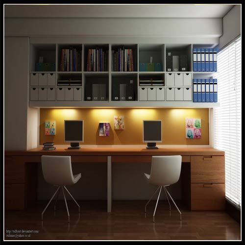 Home Study Design Ideas: Study Room Interiors, Bedroom Design, Contemporary