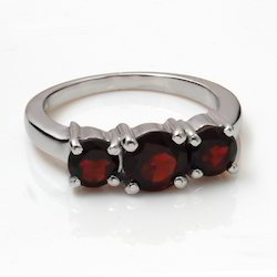 Silver With Semiprecious Stones Rings
