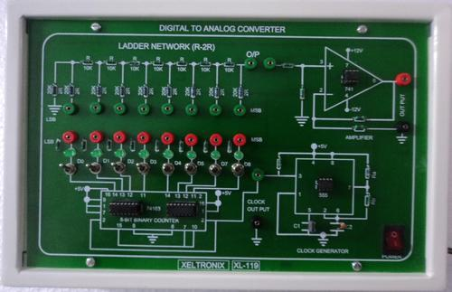 8 Bit D To A Converter ( R 2r Network Method )