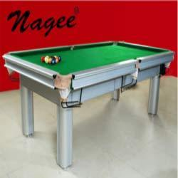 Silver Snooker Table Snooker Ki Mej Nagee Cue Master Mumbai ID - Cue master pool table