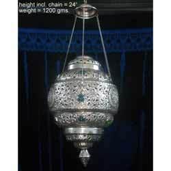 White Metal Hanging Lamp