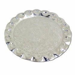 MKI Silver Aluminium Trays, Shape: Circular, Size: Dia. 10