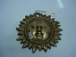 Brass Sun Face