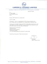 Certificate by L & T 5