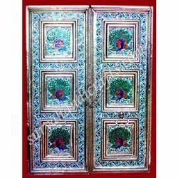 Indian White Metal Door
