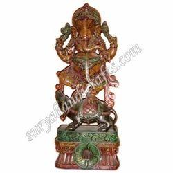 Wooden Painting Ganesha Standing