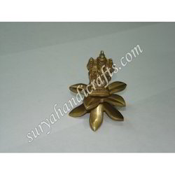 Brass Flower Ganesh Ji
