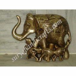 Brass Baby Elephant Statue