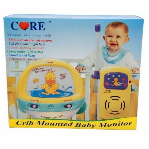 Care Crib Mounted Baby Monitor With Timer Night Light Yapaa Dot