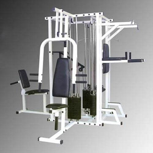Multi station gym equipment machine