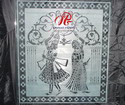 Radha Krishna on Transprint Glass