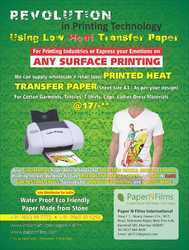 Cotton Heat Transfer Paper