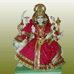 Marble Durga Mata Durga Marble Moorti Manufacturer From